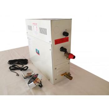 Generador de Vapor para baño 21.5 lb/hr 9 Kw 240v. 1 fase línea GVETC-CH Acero Inoxidable H2OTEK