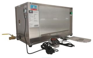 Generador de vapor industrial 21 lb/hr 9 kw 230v. 1 fase linea gvetc acero inoxidable marca h2otek